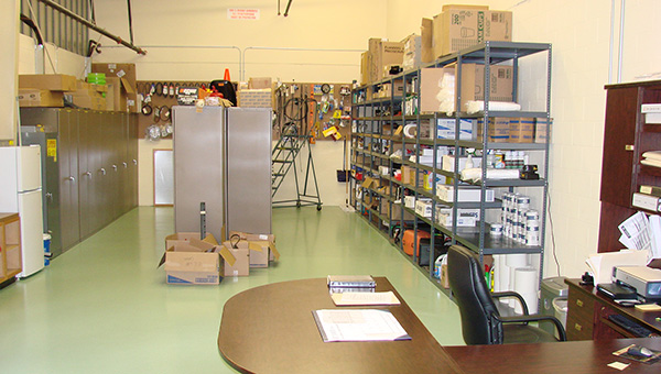 maintenance facility parts room
